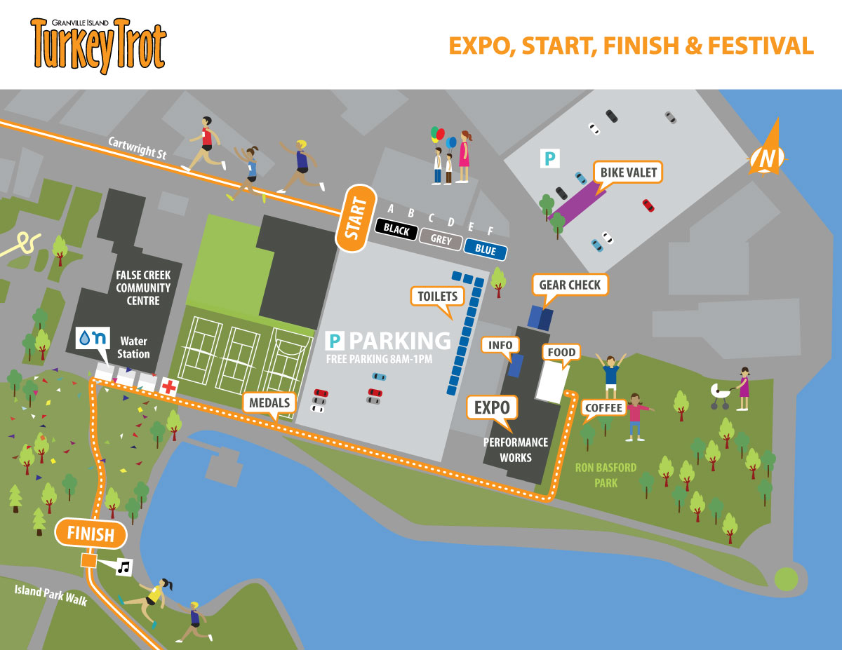 Granville Island Turkey Trot Expo Map